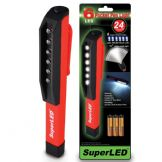 SuperLEDTM 6-LED MINI INSPECTION LAMP PEN LIGHT POCKET TORCH WITH FREE ALKALINE BATTERIES